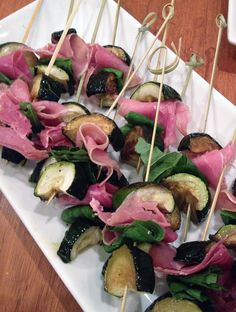 Zucchini Basil & Prosciutto Skewers