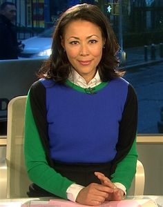 Ann Curry's color block look