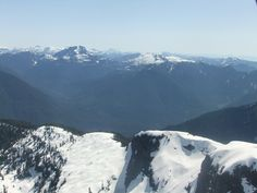 So close are the mountains - panorama flight over Vancouver, B.C.