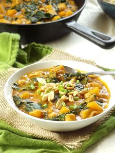 Butternut Squash Kale and Chickpea Massaman Curry | Connoisseurus Veg