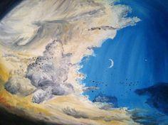 sky oil paint