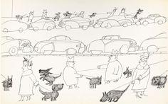 Saul Steinberg Cães da Cidade 1949