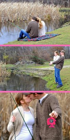 Best pregnancy announcement idea ever way to be original for Fishing gender reveal