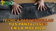 Tecnica para enrollar tus pantalones en la #mochila  #mochileros #viajes #viajeros #viajar #backpacking