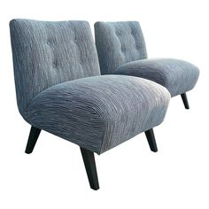 Pair of Mid Century Style Slipper Chairs