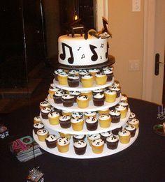 musical cupcake tower