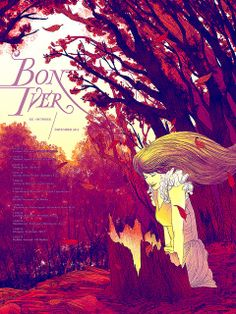 #Bon_Iver European Union Tour poster by Kevin Tong Illustration, via Flickr
