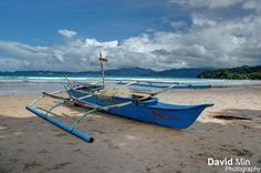 Sabang (Palawan Island), Philippines            Outrigger boats (bangka) are used in the Philippines at all sizes.   The outrigger canoe is a type of canoe featuring one or more lateral support floats known as outriggers, which are fastened to one or both sides of the main hull. Smaller canoes often employ a single outrigger on the port side, while larger canoes may employ a single outrigger, double outrigger, or double hull configuration.