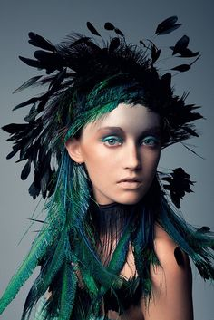 Bird of Paradise, Photo: Jeff Tse, Model: Brittany Hollis, Hair: Cash Lawless, Make-up: Kouta, via fashion gone rogue