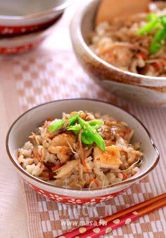 日本料理,香噴噴雞肉&舞菇炊飯