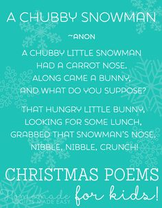 Christmas poems for kids... and the young-at-heart!