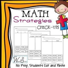 Math Strategies~ this print-and-use product is a helpful way to establish which strategies students are using when adding and subtracting. Great as an assessment or an independent center!