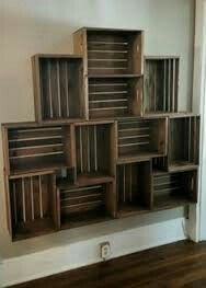 Super Diy Storage Shelves Pallets Crate Bookshelf IdeasYou can find Crate shelves and more on our website. Wooden Crate Shelves, Crate Bookshelf, Crate Shelving, Bookshelf Ideas, Wooden Crates, Shelving Ideas, Diy Storage Shelves, Crate Storage, Storage Ideas
