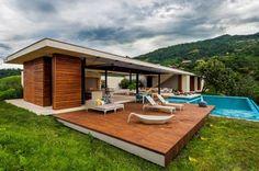 Planos de casa de campo de un piso, moderno diseño | Construye Hogar