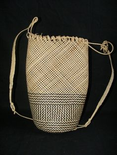 Ajat Rattan ~Basket basketry Native Borneo woven bag #6 For Sale | Antiques.com | Classifieds