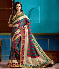 Multi Color Bhagalpuri Casual Function Wear Sarees : Tarana Collection  YF-37635
