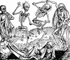 Danse Macabre is an artistic genre of late-medieval allegory on the universality of death: no matter one's station in life, the Dance of Death unites all. The Danse Macabre consists of the dead or. Hans Holbein, Dance Of Death, Medieval Times, Medieval Art, Medieval Drawings, Renaissance Art, Medieval Witch, Italian Renaissance, Vanitas