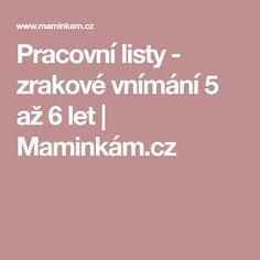 Pracovní listy - zrakové vnímání 5 až 6 let | Maminkám.cz Montessori