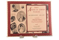 First American Jewish Families: 600 Genealogies, 1654-1977 First Edition.  by Malcolm H. Stern. Malcolm Stern's Americans of Jewish Descent marked a milestone in the study of American Jewish genealogy. Contains the family trees of every family of Jewish descent known to have been established in America prior to 1840, traced (when possible) to the present - over 40,000 individuals in total.