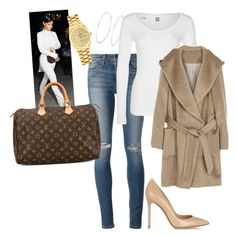 """""""My First Polyvore Outfit"""" by breakfastatbres on Polyvore featuring Joe's Jeans, Gianvito Rossi, Rolex, Michael Kors, G-Star and Louis Vuitton"""