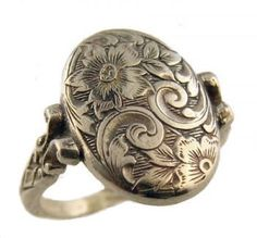 Victorian Engraved Floral Whimsy Ring- fabulous!!!