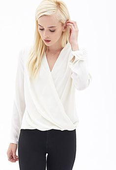 Draped Surplice Blouse | Forever 21 - 2055879568