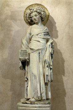 Mestre de Rius (Maître de Rieux), Sant Joan l'Evangelista (ca. 1340, Musèu dels Augustins, Tolosa) Autrescòps dins la Capèla Nòstra-Dòna de Rius del convent dels Cordelièrs