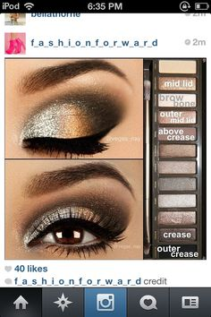 To get this look use urban decay naked 2 pallet