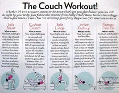 The couch workout-pretty cool