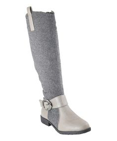 This Gray Fabric Boot by Anna Shoes is perfect! #zulilyfinds