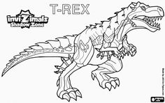T-Rex. Invizimals Shadow Zone. The mighty T-Rex is an Invizimal dinosaur  coloring page