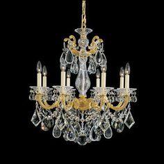 Schonbek La Scala 8 Light Chandelier Finish / Crystal Color: