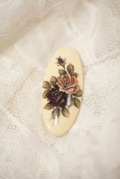 "Vintage Brooch . Scandinavia . Russia . 50s . 60s . Cream . Romantic rose . Bridal. $12.00, via Etsy. ""Something old"""