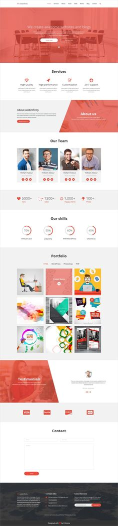 Webinfinity is clean and modern design #PSD template for onepage #startup companies website download now ➩ https://themeforest.net/item/webinfinity-psd-agency-and-startups-template/19884650?ref=Datasata