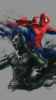 Spiderman and Black Panther the two new avengers Hero Marvel, Marvel Dc Comics, Marvel Avengers, Spiderman Marvel, Black Panther Art, Black Panther Marvel, Batwoman, Nightwing, Comic Kunst
