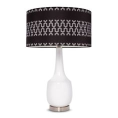 Gray Link Shade Ceramic Lamp