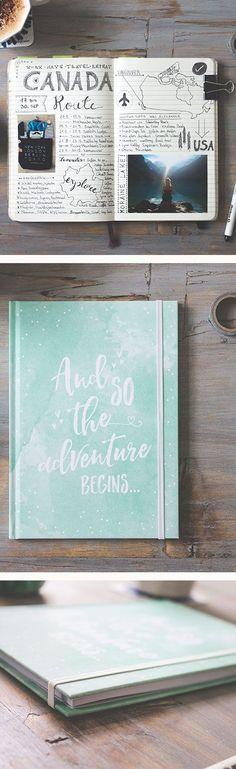 """Notebook """"Watercolor"""" Notebook """"Watercolor"""" Do DIY … - Buch Notebook Diy, Wedding Planner Notebook, Diy Wedding Planner, Planner Book, Wedding Scrapbook, Diy Scrapbook, Download Planner, Bujo, Travel Journal Scrapbook"""
