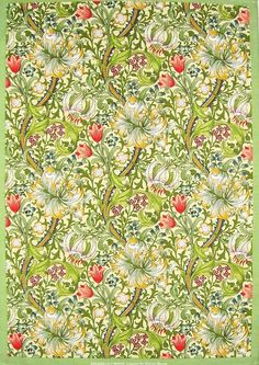 Rose And Lilly Pattern Curtain Morris Amp Company London