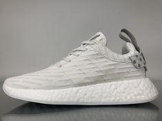 "766bd192f9f11 Adidas NMD R2 Primeknit ""WhiteSilver"" BY2245 Women Ladies Girls Real Boost  for Sale1 Adidas"