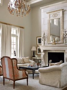 41 Wonderful French Country Design Ideas For Living Room Beige Living Rooms, Chic Living Room, Formal Living Rooms, Living Room Decor, Dining Room, French Style Sofa, French Cottage Style, Country Style Living Room, Country Style Furniture