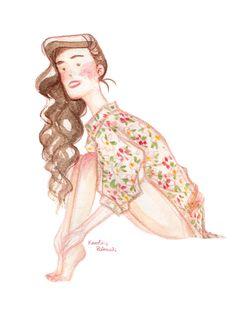 Girl in floral shirt. Karoline Pietrowski