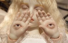my mama said this was more angel than baby so! Bjd, Doll Parts, Creepy Cute, Ball Jointed Dolls, Psychedelic Art, Retro, Art Inspo, Art Reference, At Least