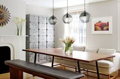 Find home décor inspiration at Architectural Digest. Everything you'll need to design each and every room in your house, from the kitchen to the master suite. Dining Room Lighting, Dining Room Chairs, Dining Area, Dining Table, Dining Rooms, Dining Furniture, Furniture Ideas, Studio Decor, Design Studio