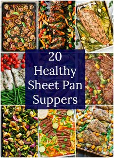 I've rounded up 20 healthy sheet pan suppers.Sheet pan suppers are pretty much the perfect busy weeknight dinner. I've rounded up 20 healthy sheet pan suppers.Sheet pan suppers are pretty much the perfect busy weeknight dinner. Healthy Food Recipes, Easy Healthy Dinners, Easy Recipes, Clean Dinners, Quick Easy Healthy Dinner, Heart Healthy Meals, Damn Delicious Recipes, Healthy Suppers, Easy Dinners For Two