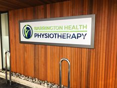 New 3D Signage for Barrington Health Physiotherapy up. - SIGNBIZ - Nationwide Installation and Delivery!
