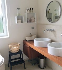 Anja from Germany uses a BEKVÄM stool for extra surface space in her bathroom | live from IKEA FAMILY