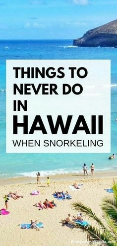 Things to do in Hawaii NOT when snorkeling. What to wear in Hawaii and what to pack for Hawaii packing list. Maui, Kauai, Big Island, Oahu Hawaii vacation ideas and tips for outdoor travel destinations Beach Vacation Tips, Honeymoon Vacations, Travel Destinations Beach, Hawaii Honeymoon, Hawaii Vacation, Hawaii Travel, Beach Trip, Vacation Trips, Vacation Spots