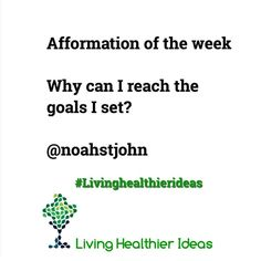 #afformation of the week Why can I reach the goals I set? Have a blessed day! Namaste Cristina Find more #LivingHealthierIdeas and resources here http://ift.tt/1qlyWMw