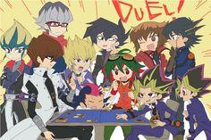 Yu-Gi-Oh eternal rivals. Yugi and Kaiba. Jaden and Chazz. Yusei and Jack. Yuma and Kite. Yuya and Reiji.