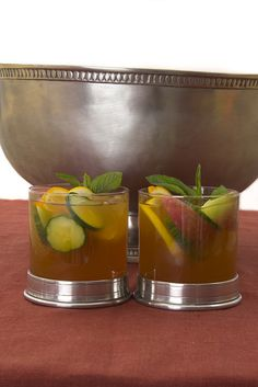 Pimms Cup in Match Pewter Rocks Glasses #cute #summer #pimms